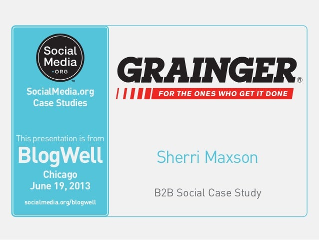 SocialMedia.org Video Case Studies Sherri Maxson B2B Social Case Study This video is from BlogWell San Francisco June 20, ...