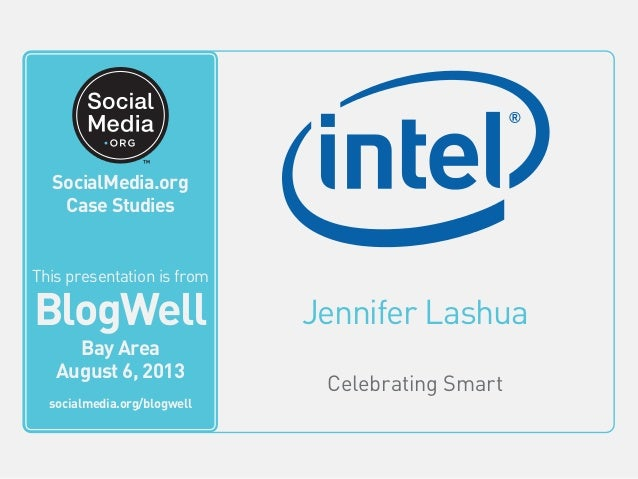 Jennifer Lashua Celebrating Smart This video is from BlogWell San Francisco June 20, 2011 socialmedia.org/blogwell SocialM...