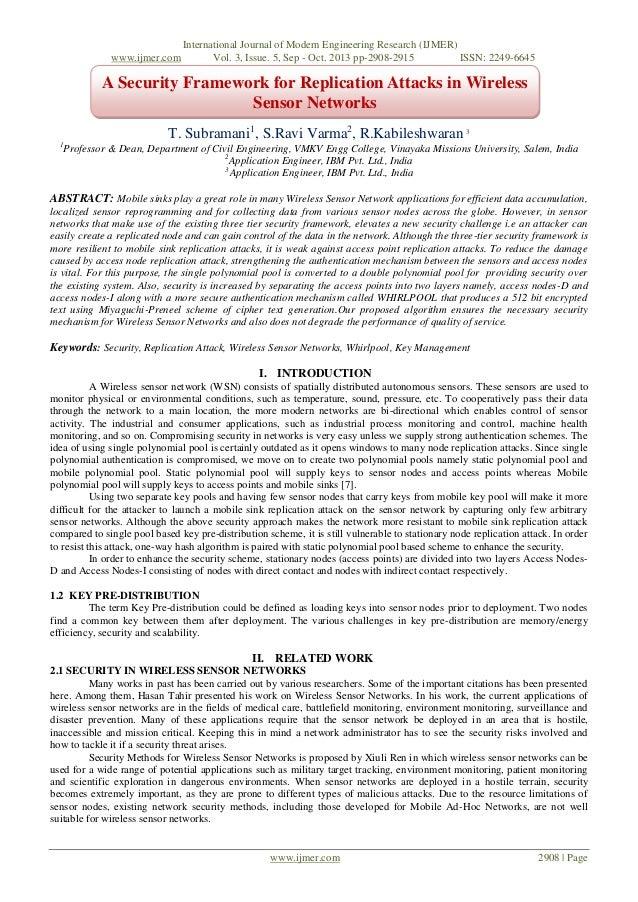 www.ijmer.com  International Journal of Modern Engineering Research (IJMER) Vol. 3, Issue. 5, Sep - Oct. 2013 pp-2908-2915...