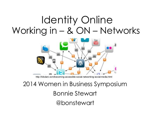 Identity Online Working in – & ON – Networks 2014 Women in Business Symposium Bonnie Stewart @bonstewart http://kikolani.c...