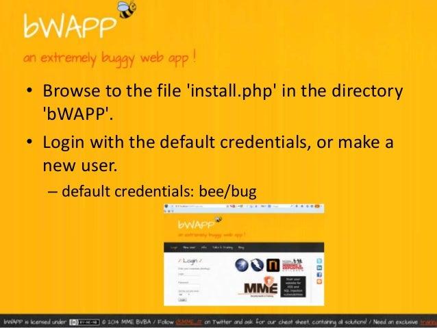 B wapp – bee bug – installation
