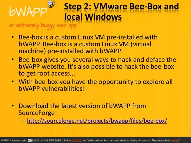 • Unzip bee-box and double click on the bee-box  – VMware virtual machine configuration  this will load the config file in...