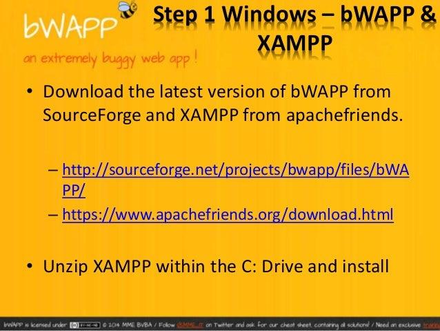 • Run XAMPP to get to the control Panel  – Hit Start Apache  – Hit Start MySQL
