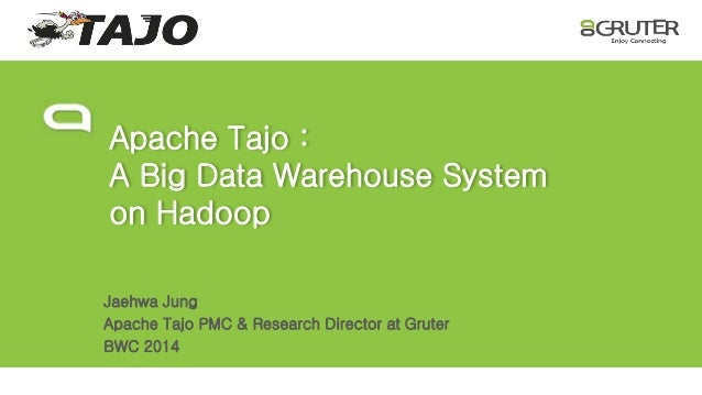 Apache Tajo :  A Big Data Warehouse System  on Hadoop  Jaehwa Jung  Apache Tajo PMC & Research Director at Gruter  BWC 201...