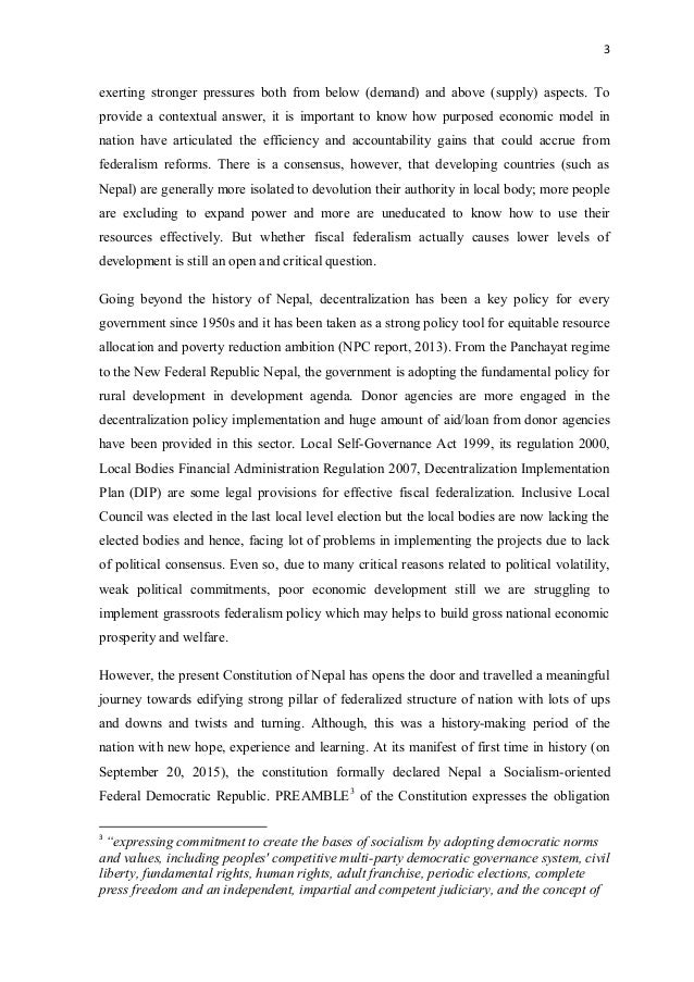 thesis on federalism in nepal Democracy in nepal essays, business plan writers seattle the firm represents clients in state and federal forums in commercial litigation matters.