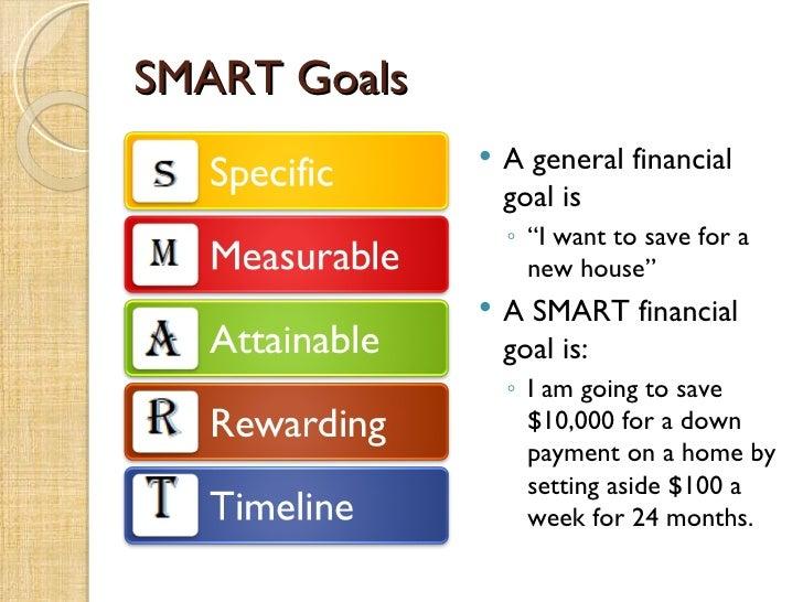 Financial goals essay