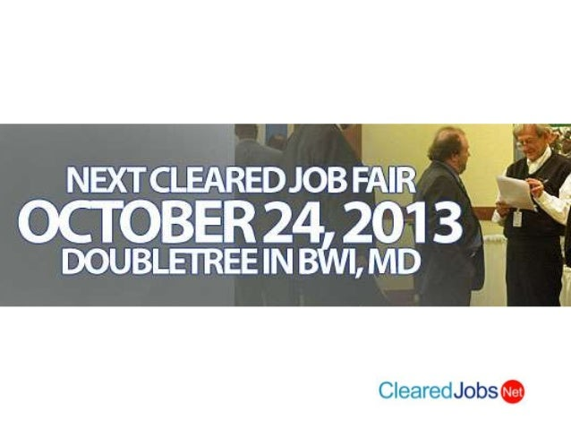 Oct 24 Bwi Cleared Job Fair Bwi Md Security Clearance