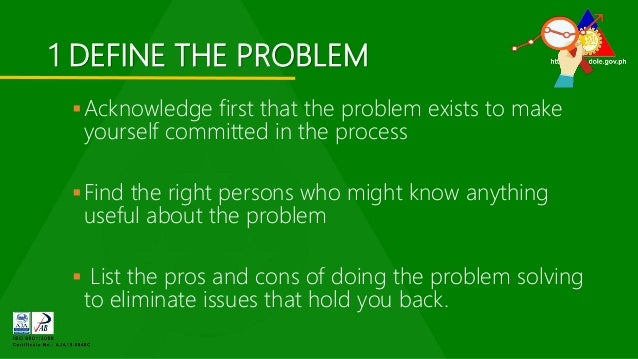 Pros and cons of the 9 step problem solving solution