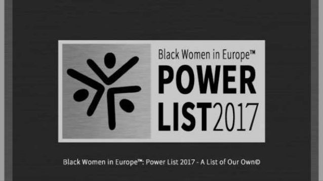 2017 Black Women in Europe™ Power List