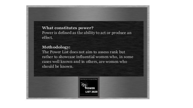 Black Women in Europe™: Power List 2020  - A List of Our Own©.  Slide 3