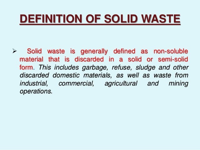 solid waste pollution definition