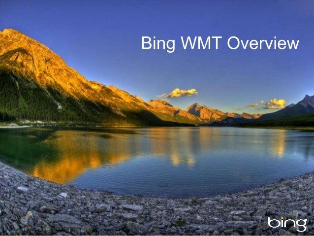 Bing Webmaster Tools Overview