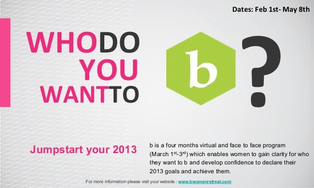 Dates: Feb 1st-‐ May 8th                                                                                      ?...