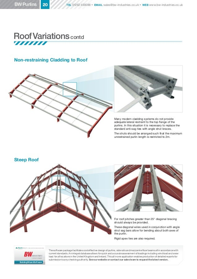 Usethe BWBuilding Wizard Software foraccurate calculations; 20.  sc 1 st  SlideShare & BW Industries : Steel Roof Purlins memphite.com