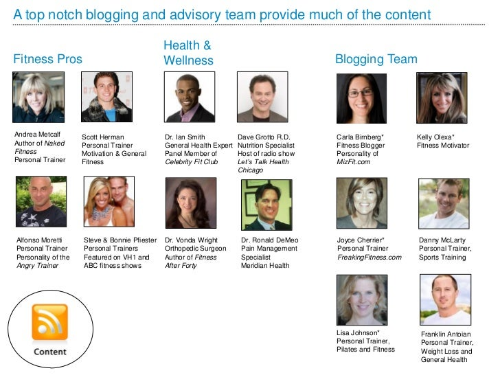 A top notch blogging and advisory team provide much of the content                                               Health &F...