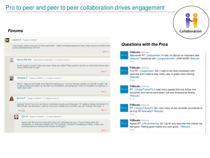 Pro to peer and peer to peer collaboration drives engagementForums                                           Questions wit...
