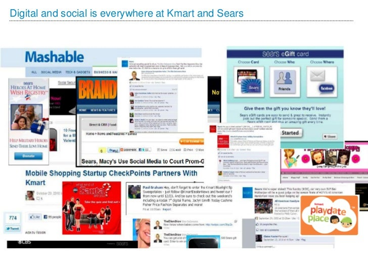 Digital and social is everywhere at Kmart and Sears