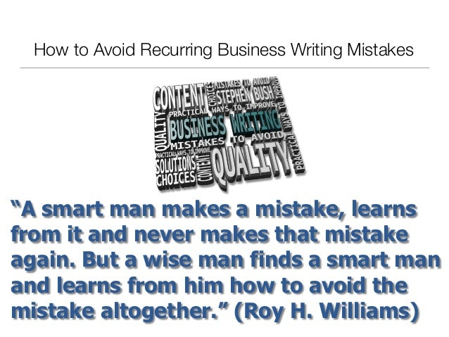 How to Avoid Recurring Business Writing Mistakes Slide 2