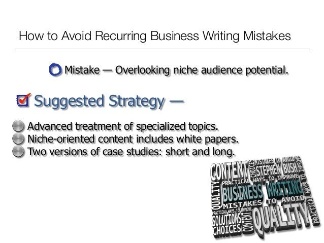 How to Avoid Recurring Business Writing Mistakes Slide 3