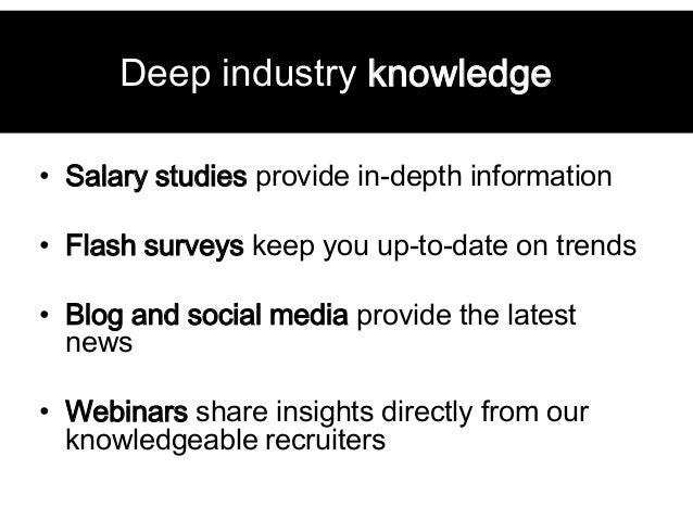 ... 20. Deep Industry Knowledge U2022 Salary Studies ...