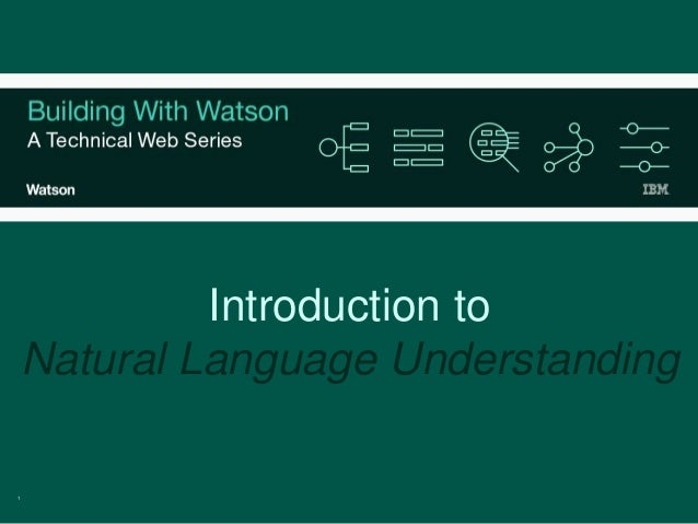 1 Introduction to Natural Language Understanding