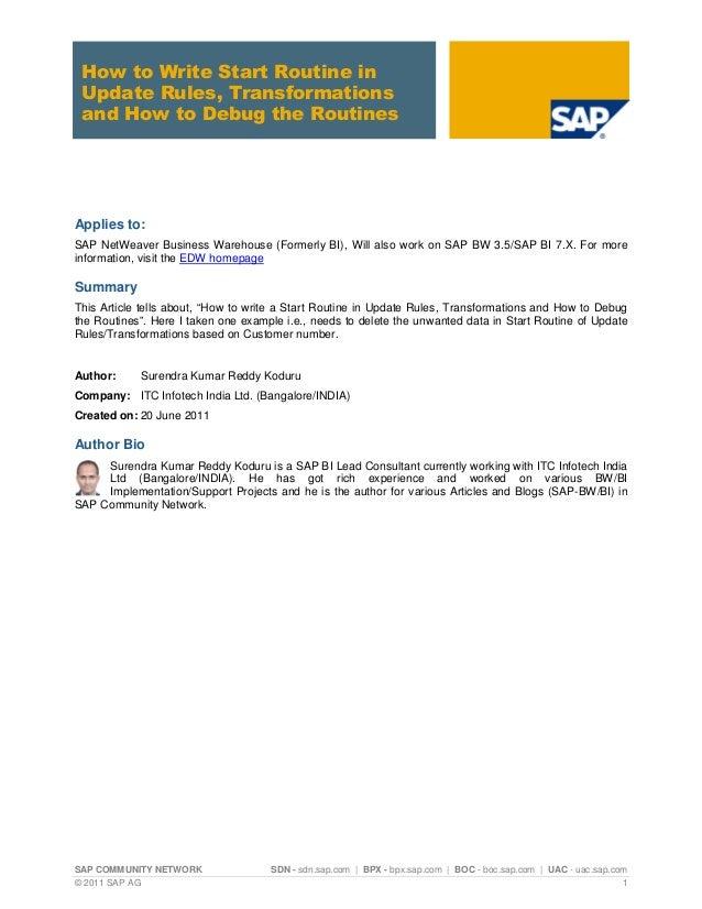 SAP COMMUNITY NETWORK SDN - sdn.sap.com | BPX - bpx.sap.com | BOC - boc.sap.com | UAC - uac.sap.com © 2011 SAP AG 1 How to...