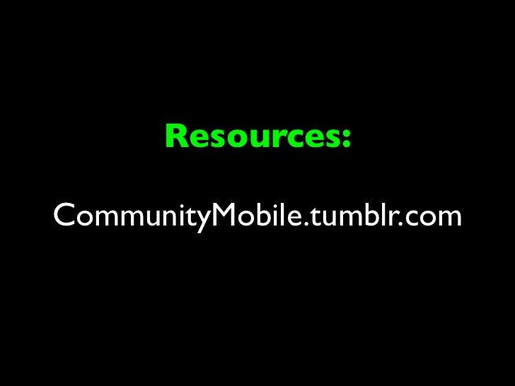 Resources:CommunityMobile.tumblr.com