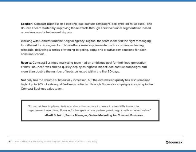 Blueprint to behavioral marketing comcast business bouncex 47 malvernweather Images