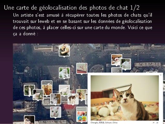 Une carte de géolocalisation des photos de chat 1/2  Un artiste s'est amusé à récupérer toutes les photos de chats qu'il  ...