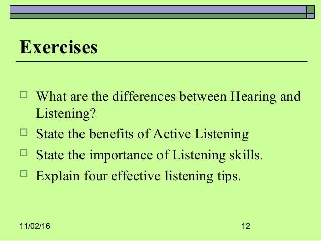 Active listening skill – Active Listening Worksheets