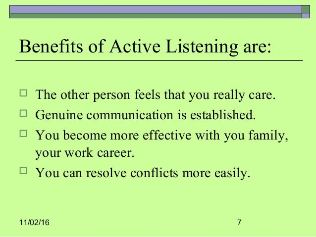 active listening 1 Start studying active listening learn vocabulary, terms, and more with flashcards, games, and other study tools.