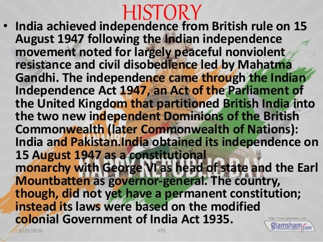 Independence Day India Ppt