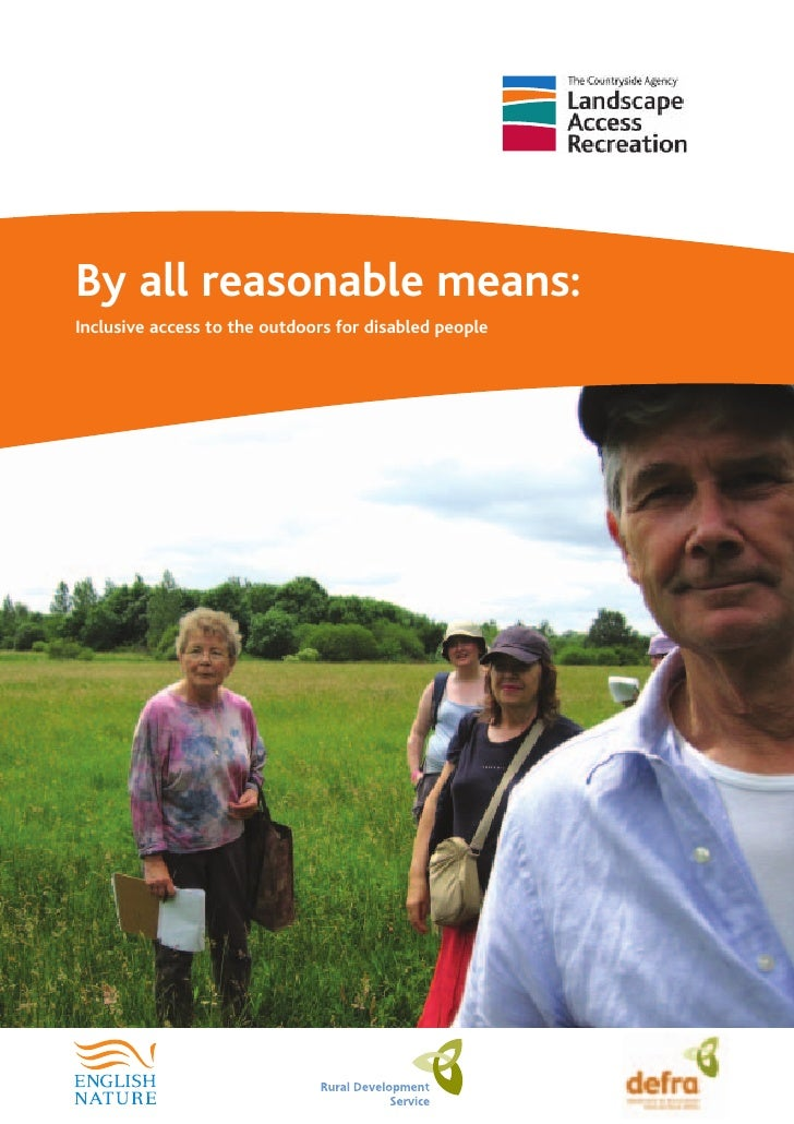 By all reasonable means:Inclusive access to the outdoors for disabled people
