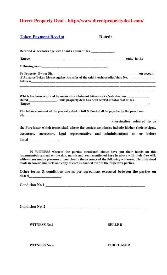 Byana Property Sale Agreement