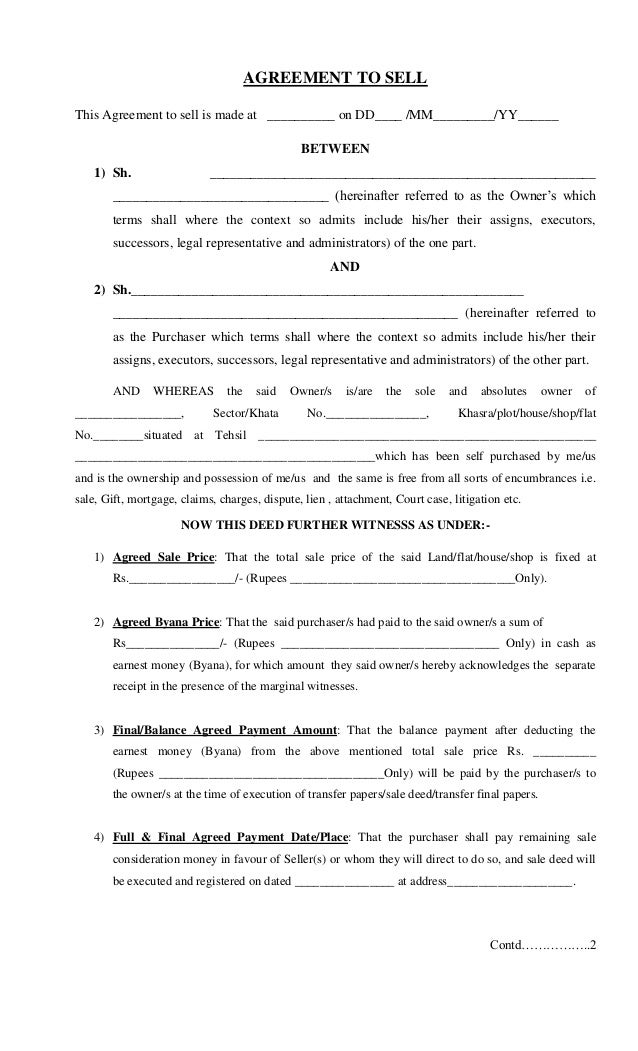 Land Sale Deed Agreement Ukrandiffusion