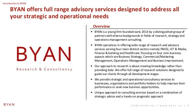 Byan research and consultancy credentials Slide 2
