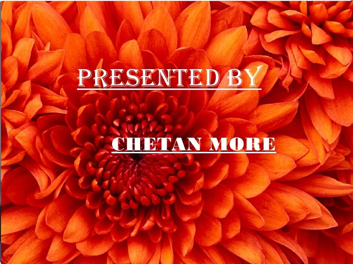 Presented by  Presented by  CHETAN MORE CHETAN MORE   GO5 105