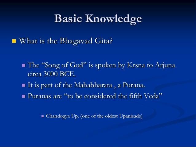 19 Basic Knowledge What Is The Bhagavad Gita