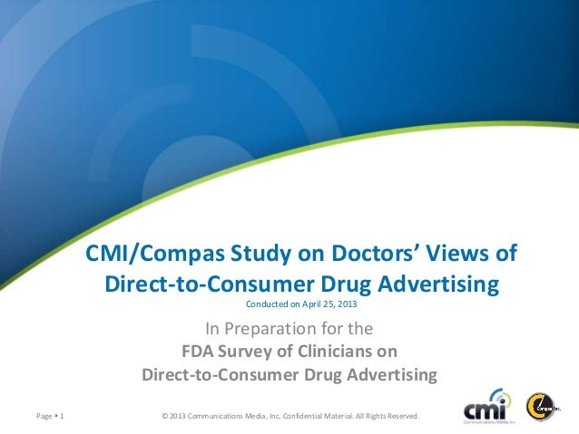 © 2013 Communications Media, Inc. Confidential Material. All Rights Reserved.Page  1 CMI/Compas Study on Doctors' Views o...