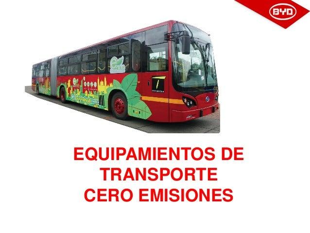 EQUIPAMIENTOS DE TRANSPORTE CERO EMISIONES
