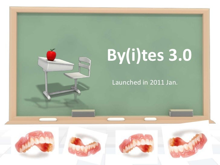 By(i)tes3.0<br />Launched in 2011 Jan.<br />