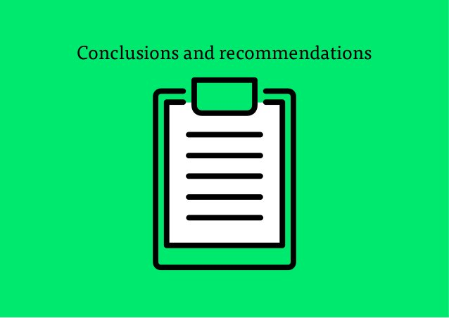 21 Conclusions and recommendations