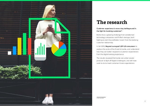 3 The research Customer experience is now a key battleground in the fight for banking customers3. Banks face a growing cha...