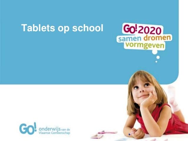 Tablets op school
