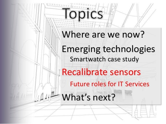 WearablesRecalibrate SensorsPicture Credit: David Kernohan, Michael Branson Smith