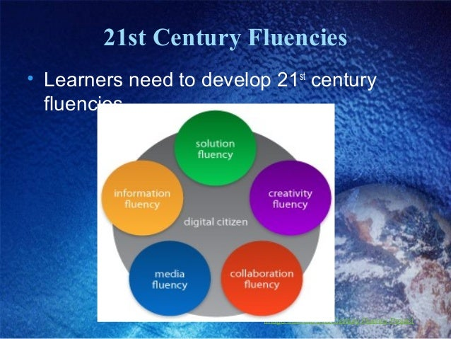 21st Century Fluencies • Learners need to develop 21st century fluencies Image from the 21st Century Fluency Project