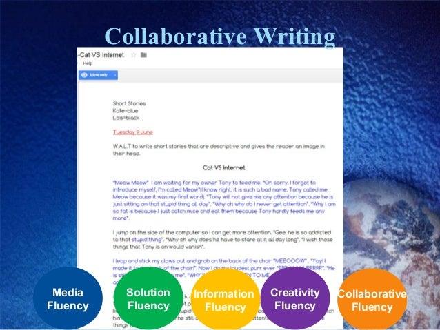 Collaborative Writing Collaborative Fluency Creativity Fluency Information Fluency Solution Fluency Media Fluency