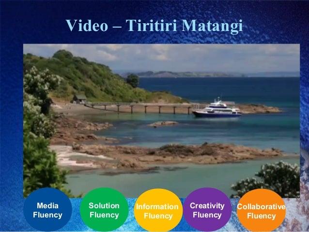 Video – Tiritiri Matangi Collaborative Fluency Creativity Fluency Information Fluency Solution Fluency Media Fluency