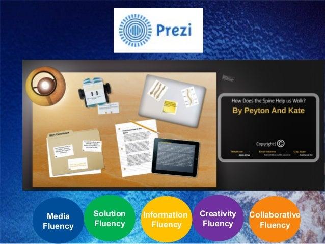 Prezi Collaborative Fluency Creativity Fluency Information Fluency Solution Fluency Media Fluency