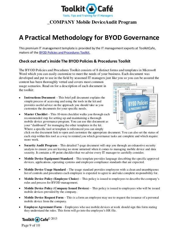 Byod security audit program